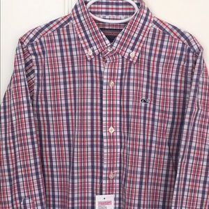 Vineyard vines boys button down shirt size 7 NWT